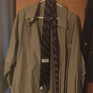 Other - Sand colored button up shirt with long sleeve